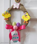 Pasqua con i bambini: la corona di pulcini fai da te