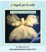 Come fare un angelo di lana cardata