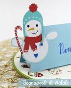 Lavoretti di Natale: i segnaposti di Natale con i pupazzi di neve