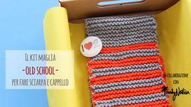 Il kit maglia per creare sciarpa e cappello per bambini