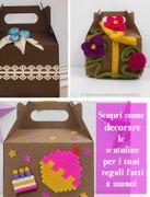 3 modi per decorare le scatoline di cartone