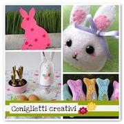 Coniglietti di Pasqua con tutorial e cartamodelli