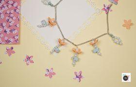 Come fare una collana quilling con fiori e perle
