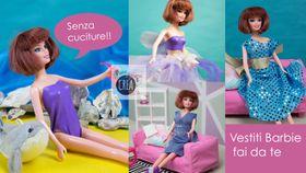 Come fare i vestiti per Barbie senza cuciture: 4 modelli da copiare!
