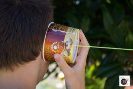Riciclo le coppette del gelato: facciamo il telefono senza fili
