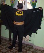 Idee di carnevale: il costume da Batman di Federica