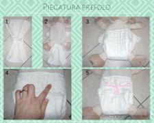 Come piegare un prefold nella mutandina