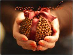Decorazioni per la tavola di Natale: Orange Pomander