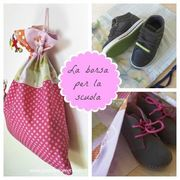 Come fare una borsa per le scarpe della scuola