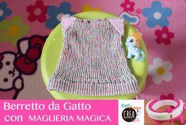 Idee con la Maglieria Magica: il berretto da gatto