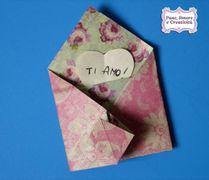 Come fare una busta origami per i biglietti d'auguri