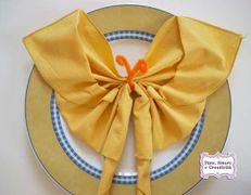 Idee per la tavola: come piegare un tovagliolo a farfalla